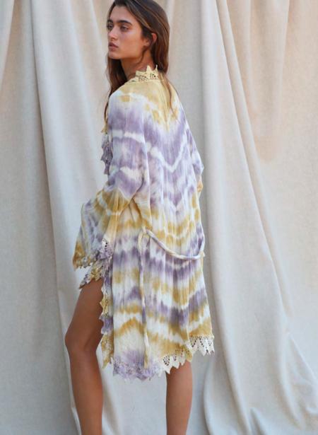 Jen's Pirate Booty SAMPLE Kalua Kimono - Gauze Arrow Tie Dye