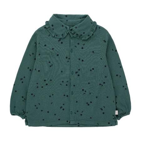 kids tinycottons sky frills shirt - stormy blue/navy