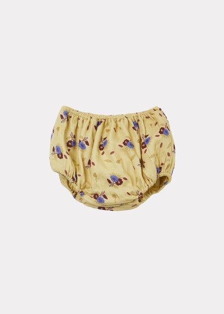 Kids Caramel Newberry Baby Bloomer - Yellow Thistle Print