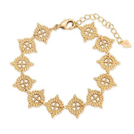 Joy Dravecky Baroque Cross Bracelet