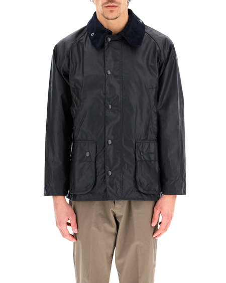 Barbour Bedale Waxed Jacket - blue
