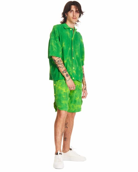 GCDS Tie Dye Shorts - green