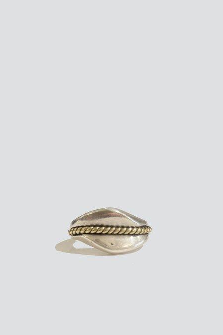 Vintage Thread Ring - Sterling Silver/Brass
