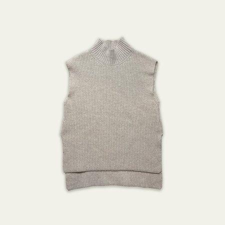 Kids Main Story Knit Vest - Cream Marl