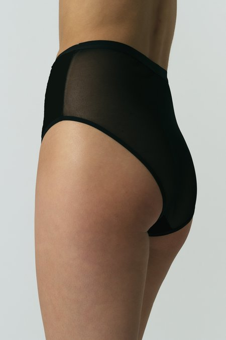 Mary Young Lux High Waist Brief - Black