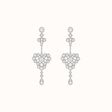 Stone Paris Crush Earrings - White Gold
