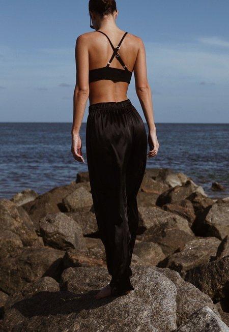 Parentezi Silk Pants - Black