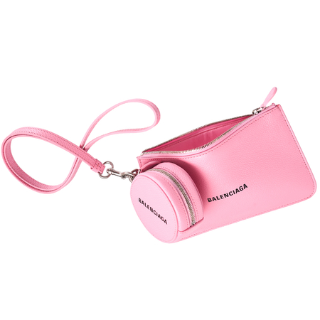 Balenciaga Cash Wallet - Pink Grained Leather