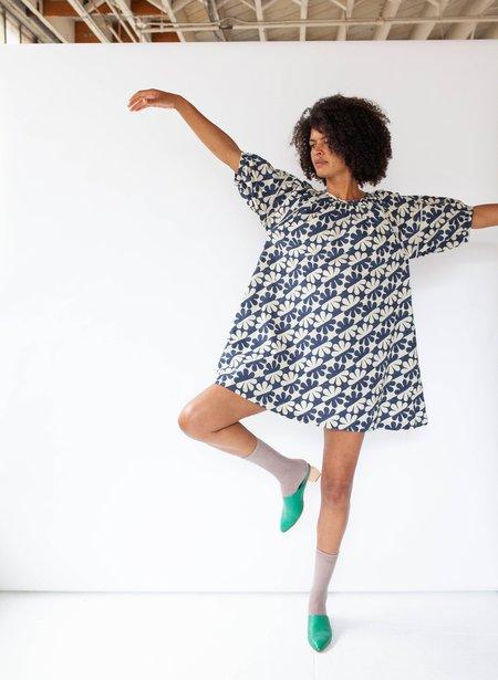 Seek Collective Katja Dress - Navy Dahlia Print