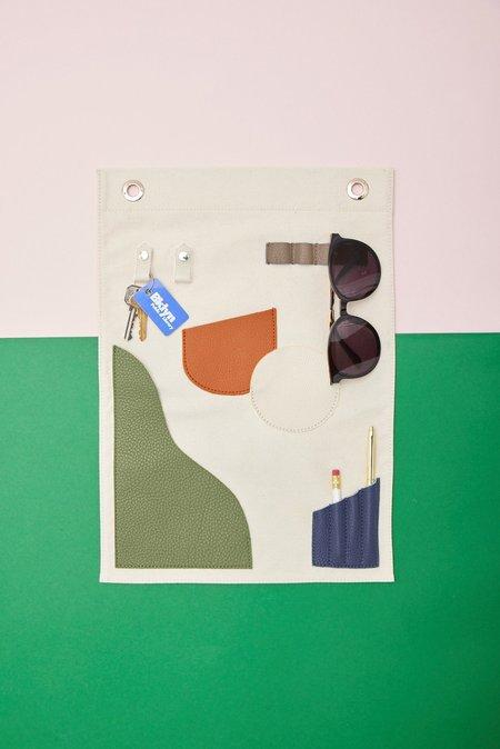 OAD Small Wall Hanging Pocket Art - Neutrals