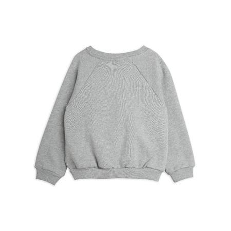 Kids mini rodini polar bear sweatshirt - grey melange