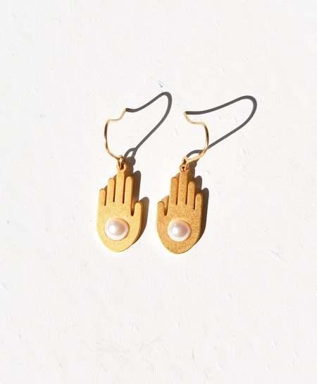 MATTER MATTERS Five Earrings - Gold/Pearl