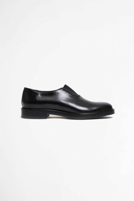 Jacques Soloviere Slip on Marty calf leather loafers - black