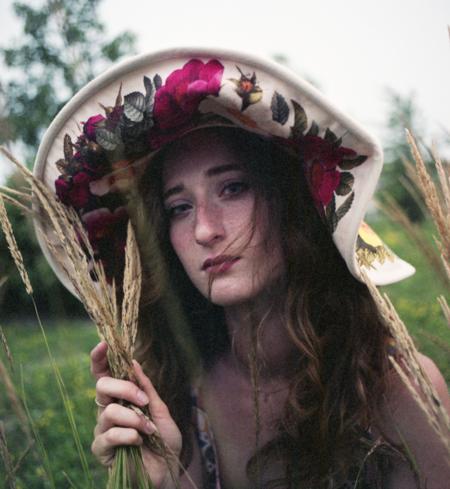 Samantha Pleet Wreath Hat
