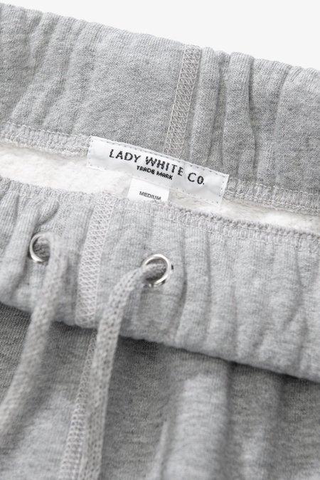 Lady White Co. Sweat Short - Heather Grey