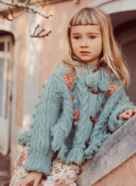 Kids Louise Misha Clara Poncho - Sage