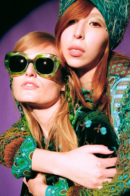 Anna Sui Fellow Earthlings Sunglasses - Green