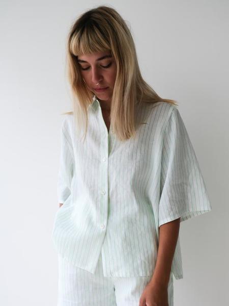 Odeyalo Parlour Top - Neon Green Stripes