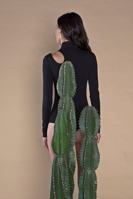 ARIELLE Bird of Prey Organic Cotton Bodysuit - Black