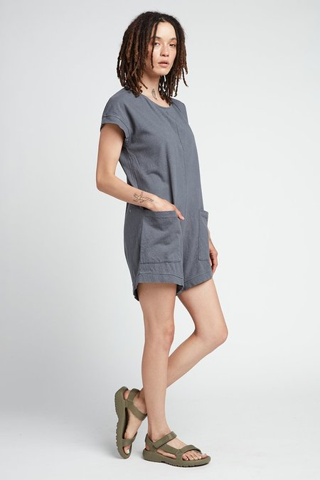 Back Beat Co. Organic Cotton Slip-On Romper - Cement