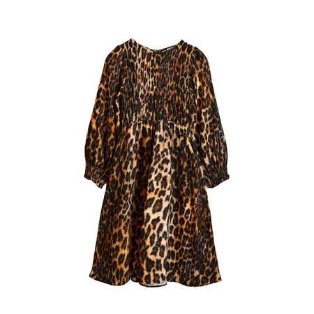 Kids  Bellerose Peach Dress - Leopard