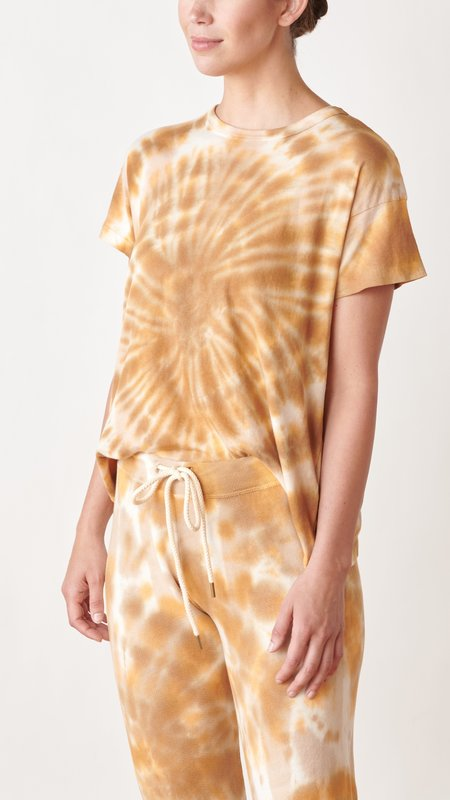 The Great. The Boxy Crew tee - Golden Tie Dye