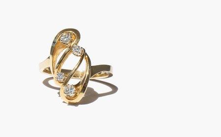 Kindred Black Feodorovna Ring - 14k gold