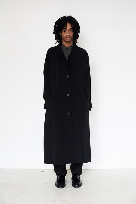David Michael Silk Trench Coat