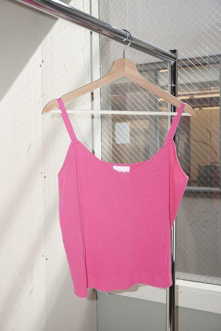 pre-loved Suzanne Rae Cotton Jersey Knit Tank - Fuschsia