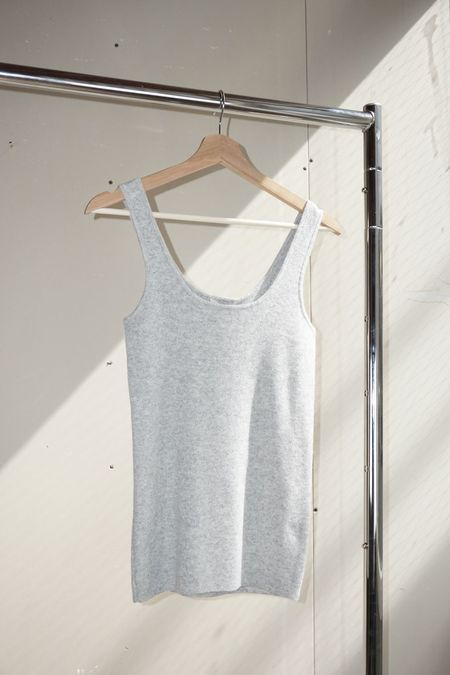 Pre-loved Parentezi Cashmere Fitted Tank Top - Grey