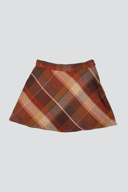 Vintage Patterned Mini Skirt
