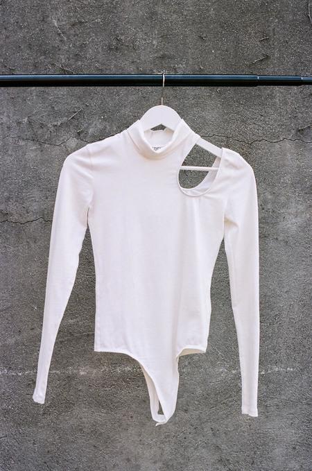 ARIELLE Bird of Prey Organic Cotton Bodysuit - White