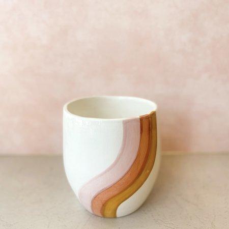 Luna Reece Ceramics Curvy Stripe Planters