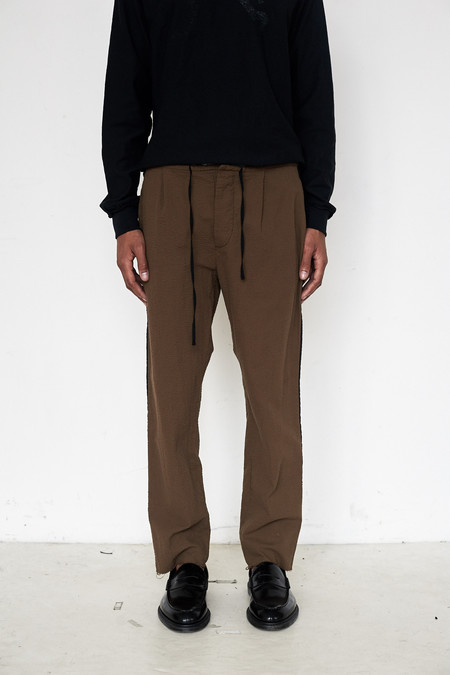 Assembly New York Cotton Seersucker Pleat Pant