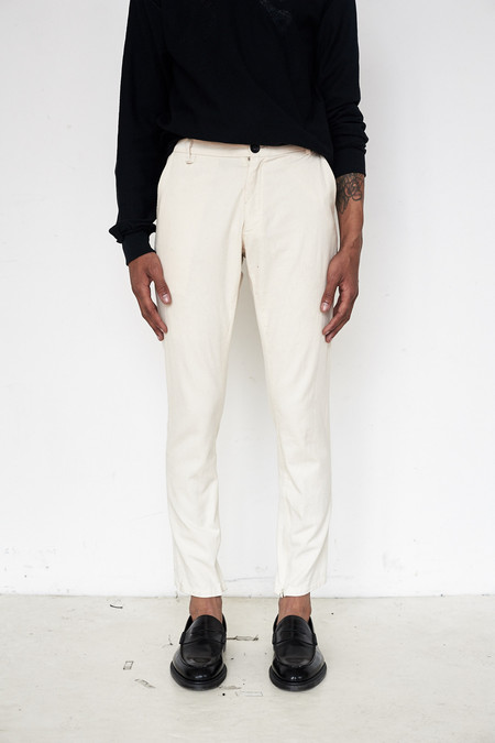Assembly New York Cotton Twill Skinny Trouser - White