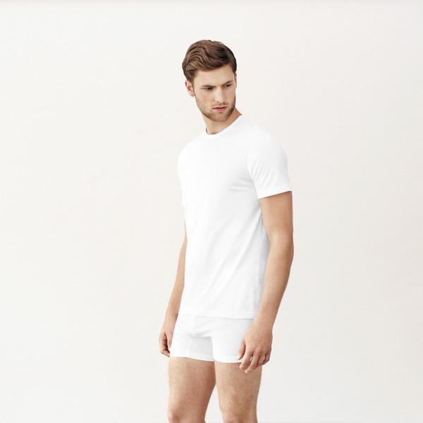 Men's Handvaerk Crewneck Undershirt White