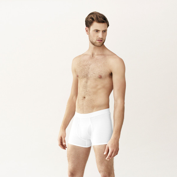 Handvaerk Low Waist Trunk White