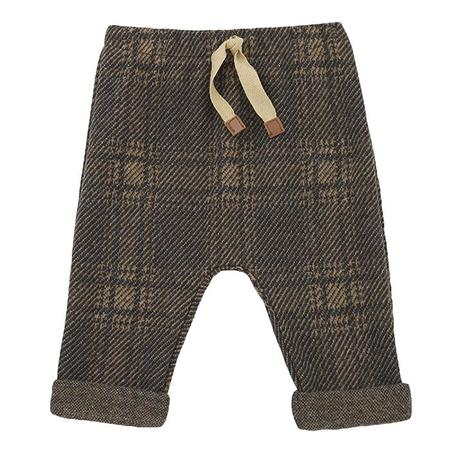 Kids 1+ In The Family Baby And Child Sebas Pants - Terrau Brown Checks