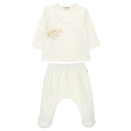 Kids 1+ In The Family Baby Two Piece Layette Set - Ecru Cream