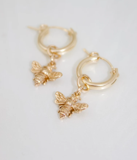 Katie Waltman Bee and Gold Filled Hoop Earrings - 14kt gold filled