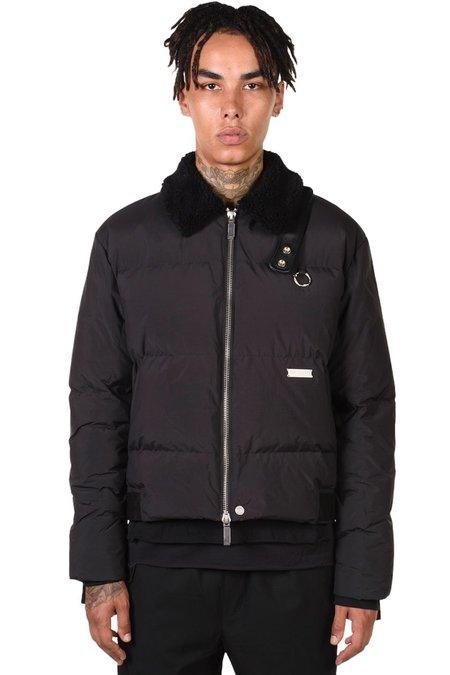 C2H4 Faux-Fur Collar Down Jacket - black