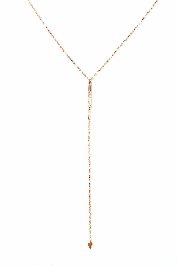 Loren Stewart Diamond Pave Bar Lariat