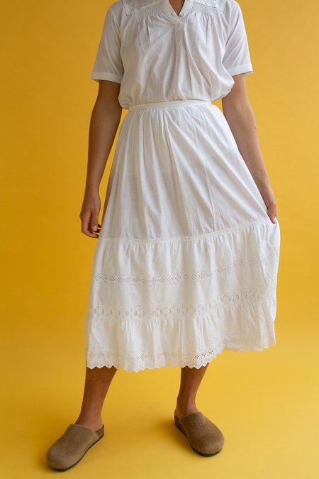 Vintage Early Cotton Tiered Skirt
