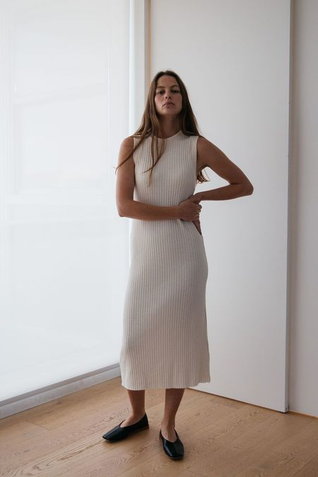 Lois Hazel Pillar Tank Dress - Cream