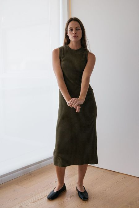 Lois Hazel Pillar Tank Dress - Olive