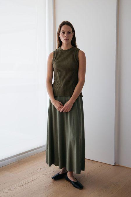 Lois Hazel Pillar Tank - Olive