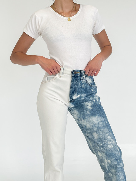 Vintage Hand Dyed Denim - Two Tone