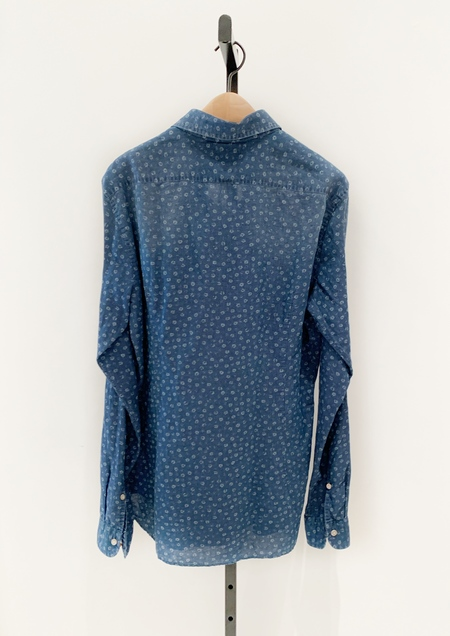 DNL Button Down Shirt - Indigo Stonewash