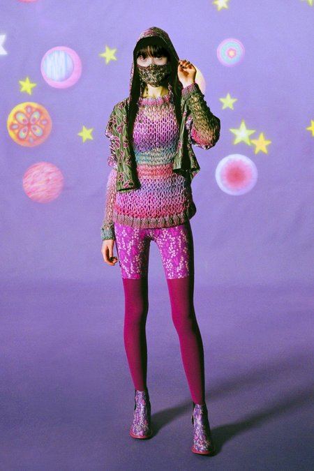Sunset Spacedye Knit Sweater - Magenta Multi