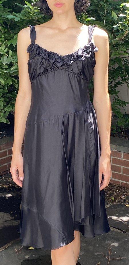 Vintage Celine Silk Dress - black